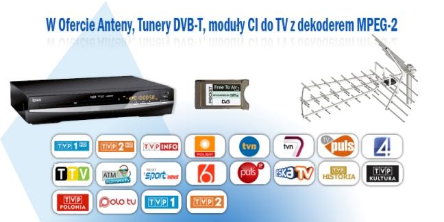 TV naziemna cyfrowa, anteny Częstochowa